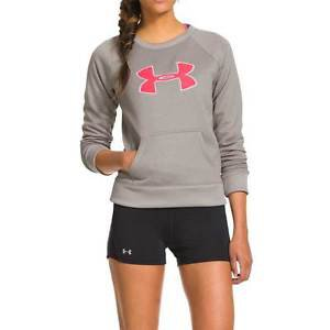 Under Armour Women's UA Big Logo Lettermen Crew Sweatshirt - 1248642