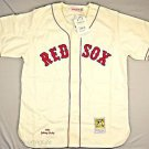 Mitchell & Ness Men's Boston Red Sox 1946 Pesky Jersey (XL, Cream/Red) 46JPESK
