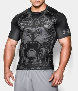 Under Armour Men's UA 100% BEAST Compression Shirt - Lion, Wolf, or Shark