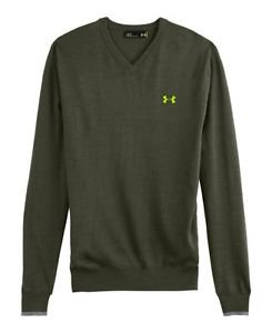 Under Armour Men's UA Merino Wool V-Neck Sweater (Small, Rough) - 1248118