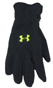 Under Armour Boys UA Coldgear Storm Fleece Logo Gloves - Youth sz M or L 1254106