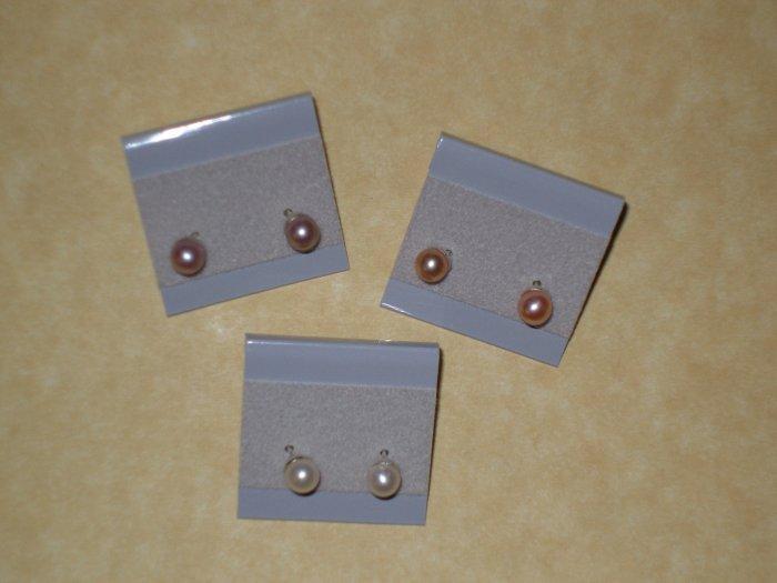 Freshwater Pearl Earring Set