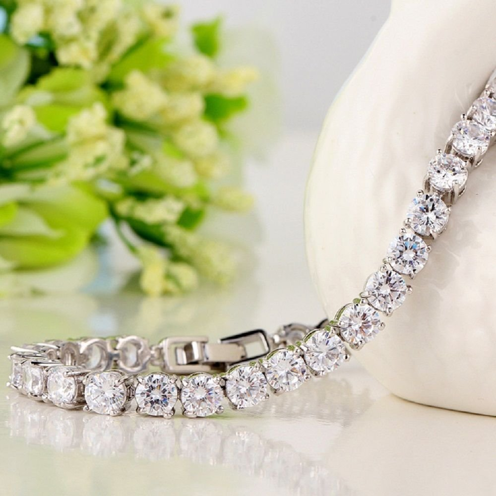 2.25 Carat Round Diamond 7inch Tennis Bracelet Crafted in 14k White Gold
