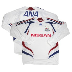 07 Yokohama F-Marinos Soccer Shirt Replica Away Long Sleeve (Full Sponsor)