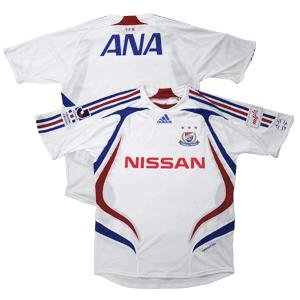 07 Yokohama F-Marinos Soccer Shirt Replica Away Short Sleeve (Full Sponsor)