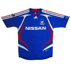07 Yokohama F-Marinos Soccer Shirt Authentic Home Short Sleeve (Standard)
