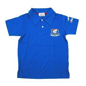 06 Kids Emblem Polo Shirt (Blue)
