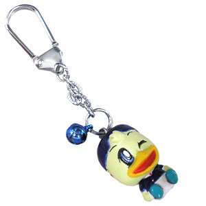 Swinging Head Marinosuke with Bell Key Ring