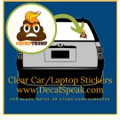 #DumpTrump Clear Car/Laptop Sticker