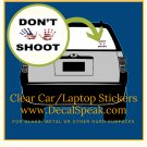 Hands Up Don't Shoot Clear Car/Laptop Sticker
