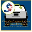 Resist Flag Fist Clear Car/Laptop Sticker