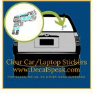 Gun Clear Car/Laptop Sticker