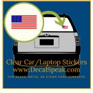 US Flag Clear Car/Laptop Sticker