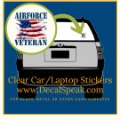 Air Force Veteran #2 Clear Car/Laptop Sticker