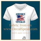 Air Force Veteran #2 Fabric Iron-on