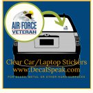 Air Force Veteran 1 Eagle Clear Car/Laptop Sticker