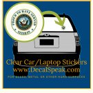 Proud to Have Served Veteran US Navy Clear Car/Laptop Sticker
