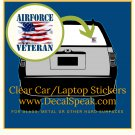 US Air Force 2 Clear Car/Laptop Sticker