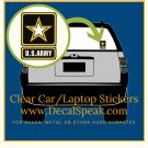 US Army Star Clear Car/Laptop Sticker