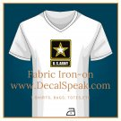 US Army Star Fabric Iron-on