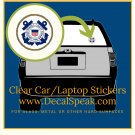 US Coast Guard Clear Car/Laptop Sticker