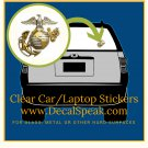Anchor Globe Eagle Clear Car/Laptop Sticker