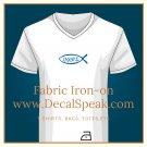 ΙΧΘΥΣ Fabric Iron-on, 2 pieces