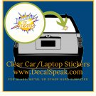 Powered by Jesus Clear Car/Laptop Sticker