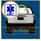 EMT 1 Clear Car/Laptop Sticker