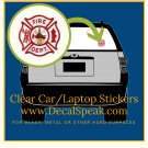 Fire Dept. Clear Car/Laptop Sticker