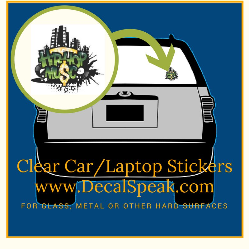Hip Hop Music Clear Car/Laptop Sticker
