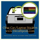 LGBTQ Blk Grunge Flag Clear Car/Laptop Sticker