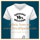 Refugees Welcome Fabric Iron-on