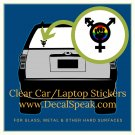 Multi-Sexual Clear Car/Laptop Sticker