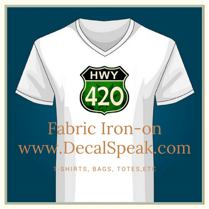 420 Clock Fabric Iron On