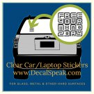 Free Your Mind Clear Car/Laptop Sticker