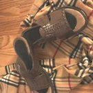CLARKS BROWN LEATHER SANDALS  SLIP ON WOMENS  Worn Once Womens 6M 6 M