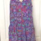 NANETTE LEPORE  ROMPER SZ 2 SWIM COVER UP  Zip Front One Piece  100% Silk UNWORN