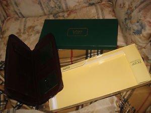 Dopp Regatta Zipper Passport Organizer Wallet Organizer MAHOGANY NEW BOX Mens
