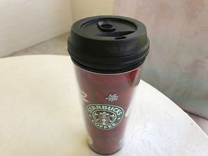 Starbucks Original Tumbler Thermal  Christmas Edition 16 Oz  2009 NEVER USED