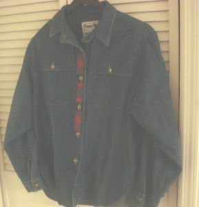 PIONEER WEAR DENIM JACKET SZ 10  SOUTHWEST LADIES CONCHO BUTTONS  WESTERN 10