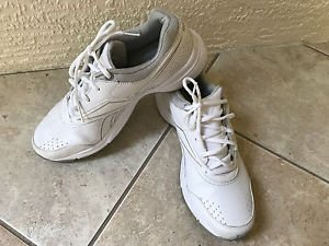 REEBOK DMX Ride White  Gray Pin Stripe Mens Walking Sneakers Sz 9M Very Good