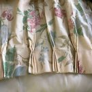 "THOMASVILLE CUSTOM FLORAL DRAPES 48x60 Each Panel 24"" Lined Simlar Valance Inclu"