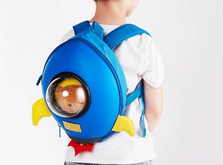 Blue Rocket Backpack for Kids