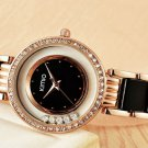 Kimio Rolling Crystal Diamond Gold Bracelet Women's Fashion Quartz-Watch