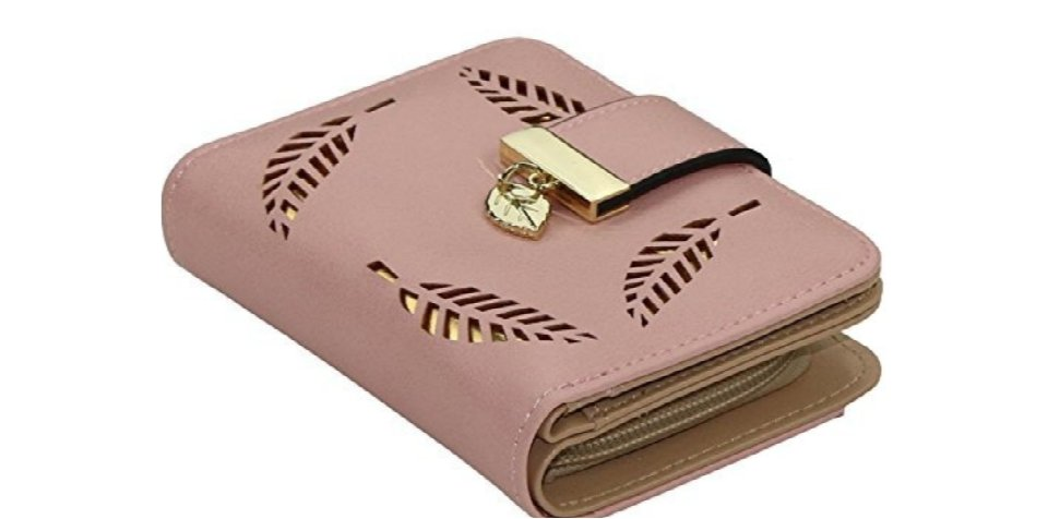 Gold Leaf Small Wallet Apricott