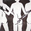 Three Graces - Linoleum block print - Kathe Welch