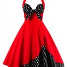 Halter Floral Polka Dot Vintage Dress