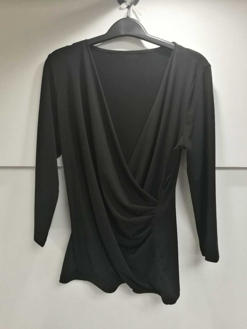 New Women 3/4 sleeve draped knited Tops