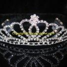 Heart rhinestone tiara